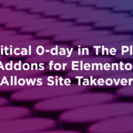 The Plus Addons for Elementor 外掛漏洞 Critical 0-day